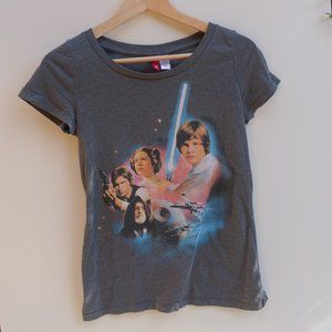 H&M Divided Star Wars Graphic Tee Grey